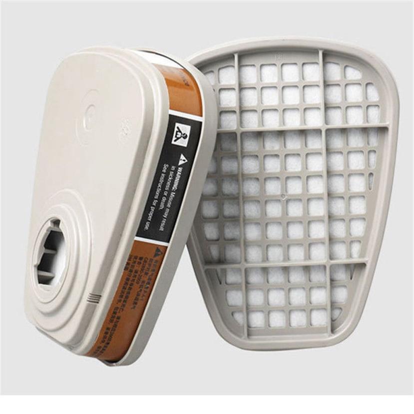 2pc 6001cn Organic Vapor Respirator Filter Cartridge For 3M 7502 6200 Gas Mask Drop Shipping