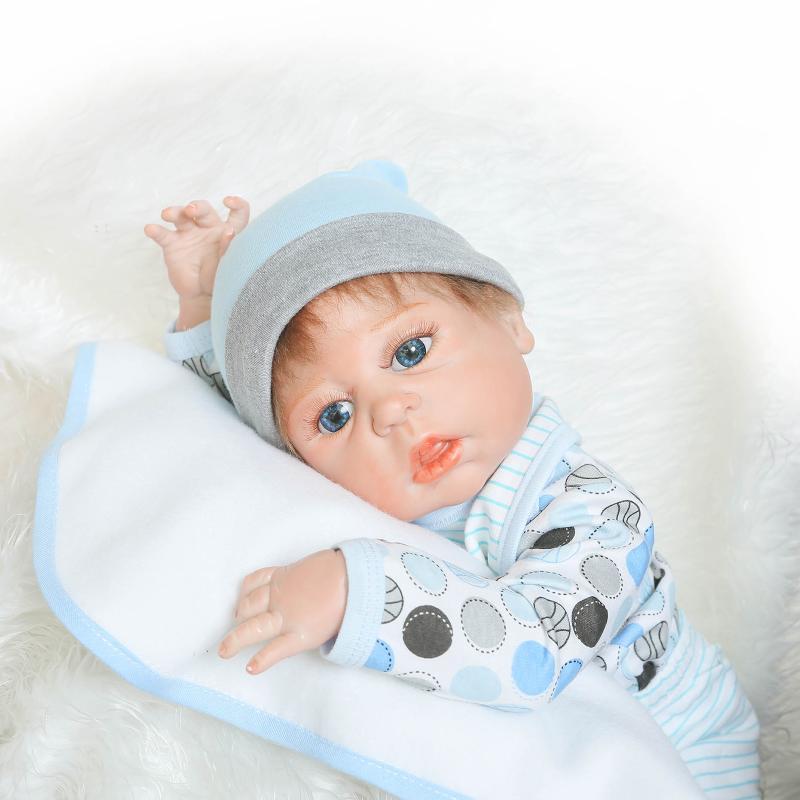 57cm Full Silicone Real Newborn Baby Kids Toy Reborn Dolls Princess Girl Dolls Children Christmas Birthday New Year Gift