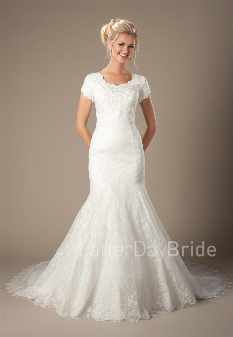 60s shift lace wedding dress 60's wedding dress KItty and Dulcie Baroness portrait