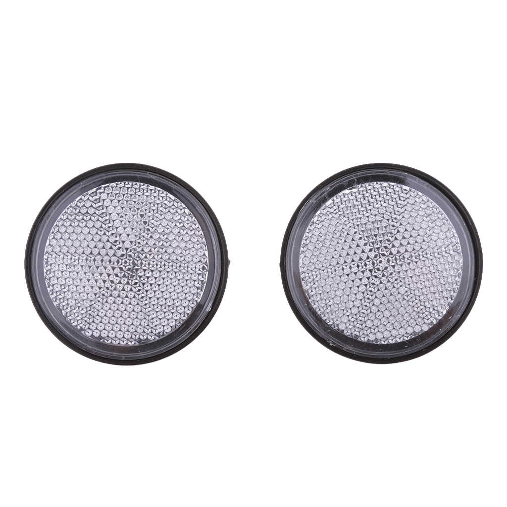 4 Pcs Round Reflectors Universal For Motorcycle Bikes ATV Dirt Bike Etc 2.16 Inch Plastic Motorcycle Round Reflectors Accessory