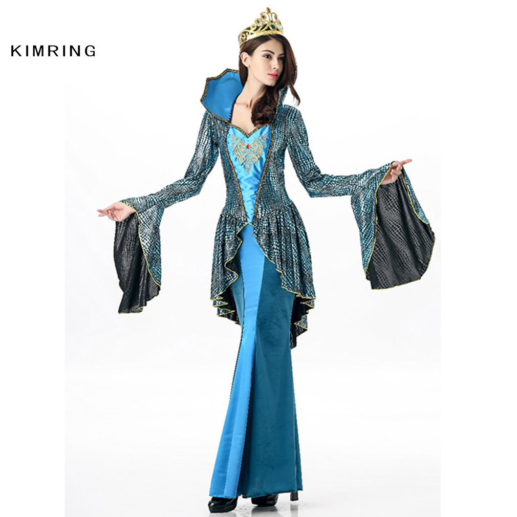 Kimring Renaissance Queen Costume Princess Mermaid Cosplay Costume ...