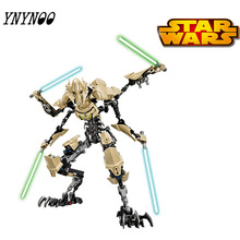 (YNYNOO)KSZ StarWars Darth Vader White Storm Trooper General Grievous Figure Toys Building Blocks Compatible With
