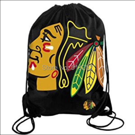 Aliexpress Chicago Blackhawks Drawstring Backpack Nhl Bags 35x45cm Sports Team Free Shipping From Reliable Suppliers On Seabow