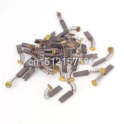 50 Pcs 13mm x 4mm x 2.5mm Copper Mixed Carbon Brush for Electric Motor