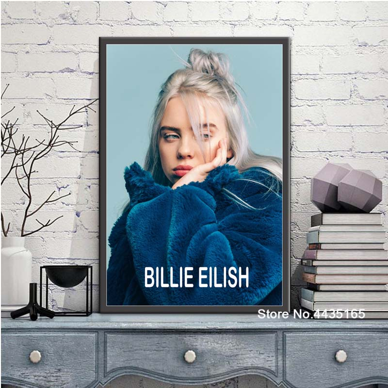Us 198 27 Offbillie Eilish Poster Singer Star Posters And Prints Wall Art Picture Canvas Painting Decoration For Living Room Home Decor In