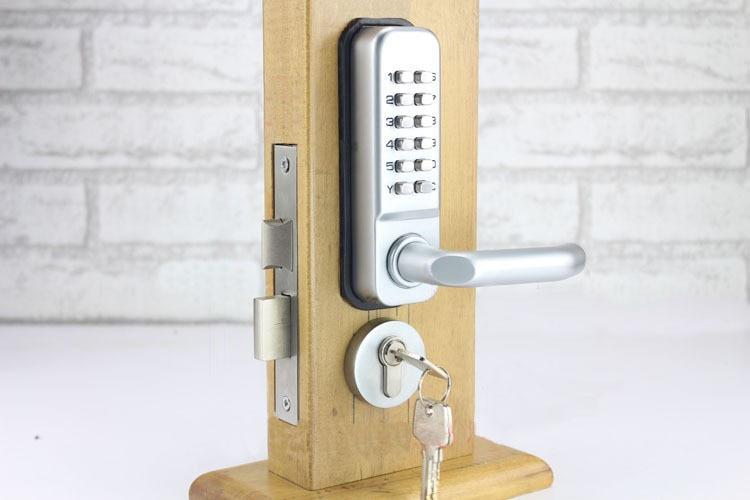LHX Waterproof Lever Handle Mechanical Code Door Lock With Keys Machine Combination Locks a