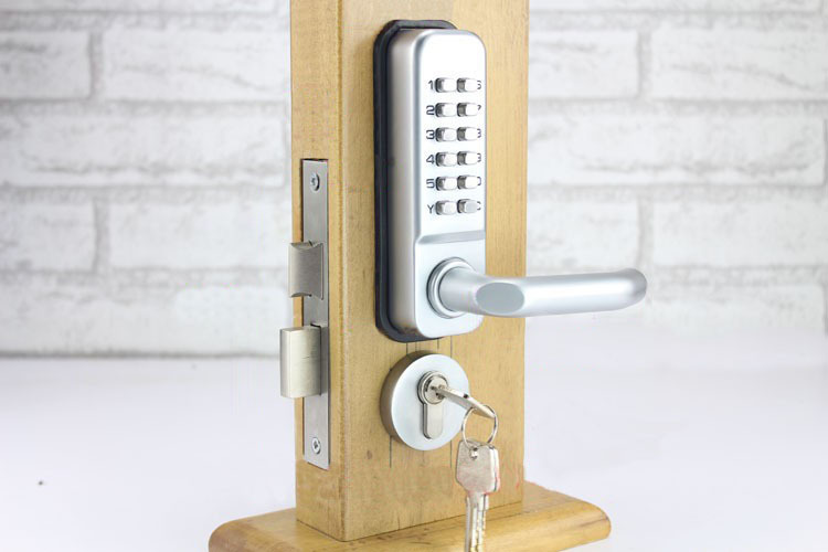 LHX Waterproof Lever Handle Mechanical Code Door Lock With Keys Machine Combination Locks a