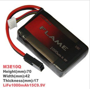 HK register free shipping~100% Orginal Flame 9.9V 1000mAh 15C LiFePO4 Battery For PEQ-15 Box