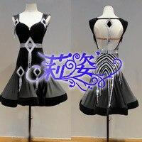 Ladies Party Ballroom Latin Tango Modern Samba Salsa Dance Dress Fringes Skirt