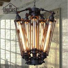 Grandes luces colgantes antiguas de hierro forjado, iluminación Industrial, barra de oficina, Isla de cocina, lámpara de techo colgante Vintage
