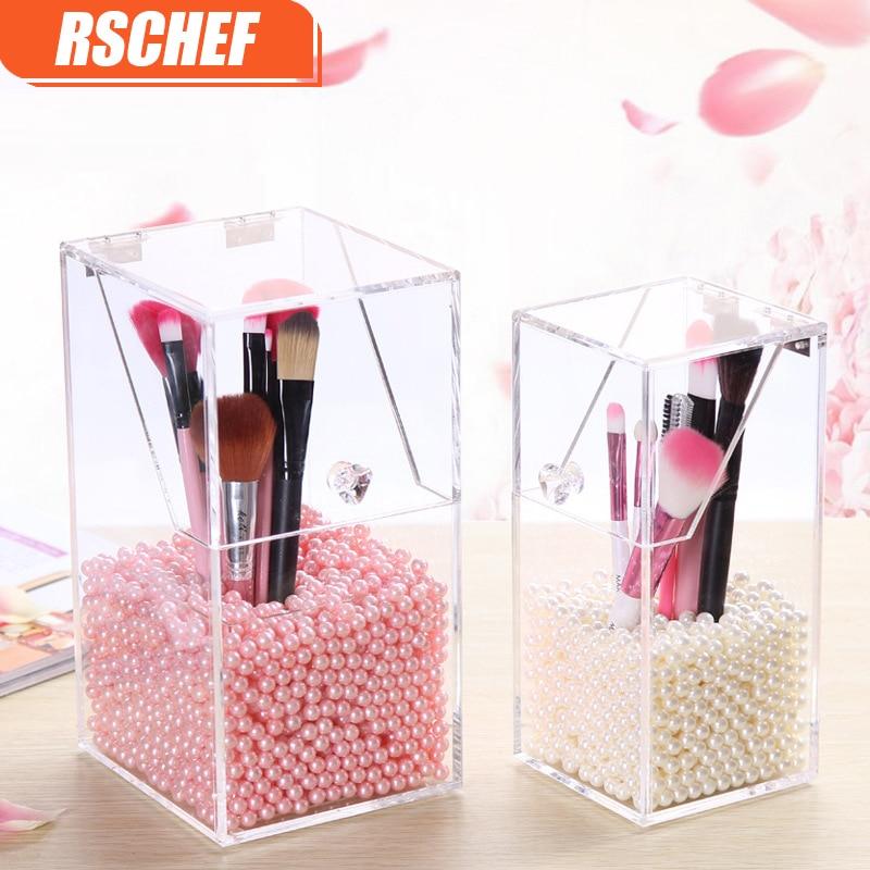 RSCHEF Transparent Acryl Cosmetic Organizer Make-up Pinsel Container - Home Storage und Organisation