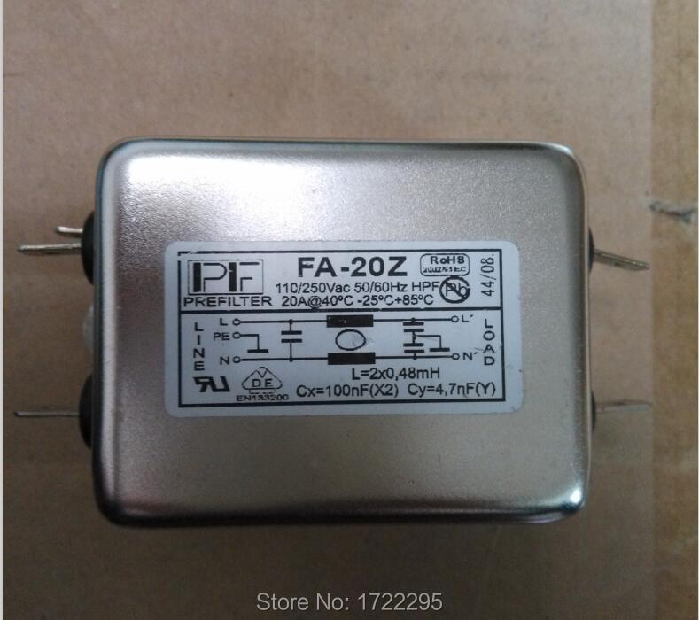 FA-20Z d'origine série FA Chasis montage sur panneau monophasé 6A filtres monophasés pour convertisseurs de fréquence