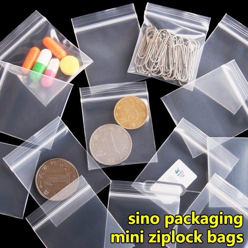 100 pieces/lot Free Shipping Mini Zip lock Baggies Plastic Packaging Bags small Plastic zipper bag   ziplock bag ziploc