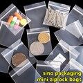 100 pcs/lot Free Shipping Mini Zip lock Bags Plastic Packaging Bags small Plastic zipper bag ziplock bag ziploc