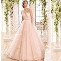NOVA Rosa Vestido de Noiva 2016 Sexy pérolas vestido de baile vestidos de Casamento backless vestido de noiva sexy vestido de noiva 2017