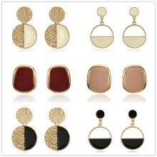 2019 Handmade Fashion Simple Geometric Crcular Metal Earrings Girls Popular Punk Drop Jewelry
