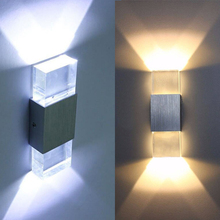 2W AC85-265V LED sconce modern Wall-Mounted tAluminum and Acrylic,PMMA,indoor wall light,used in living room free shipping
