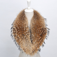 Big Real Fourrure De Raton Laveur Collier Femmes Écharpe De Mode Manteau Chandail Foulards D'hiver Long et Épais Col De Fourrure Chaude