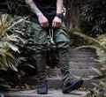 2017 de La Moda Occidental Pantalones Aumentar El Temor De Dios Los Hombres Flacos lateral con cremallera delgado pantalones hip hop pantalones harem ocasional hombres