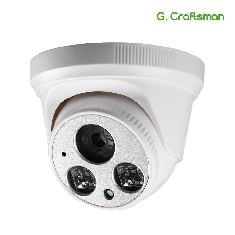 G Craftsman Audio 5 0MP IP Camera Dome DC12V Full HD Infrared Night Vision UHD CCTV