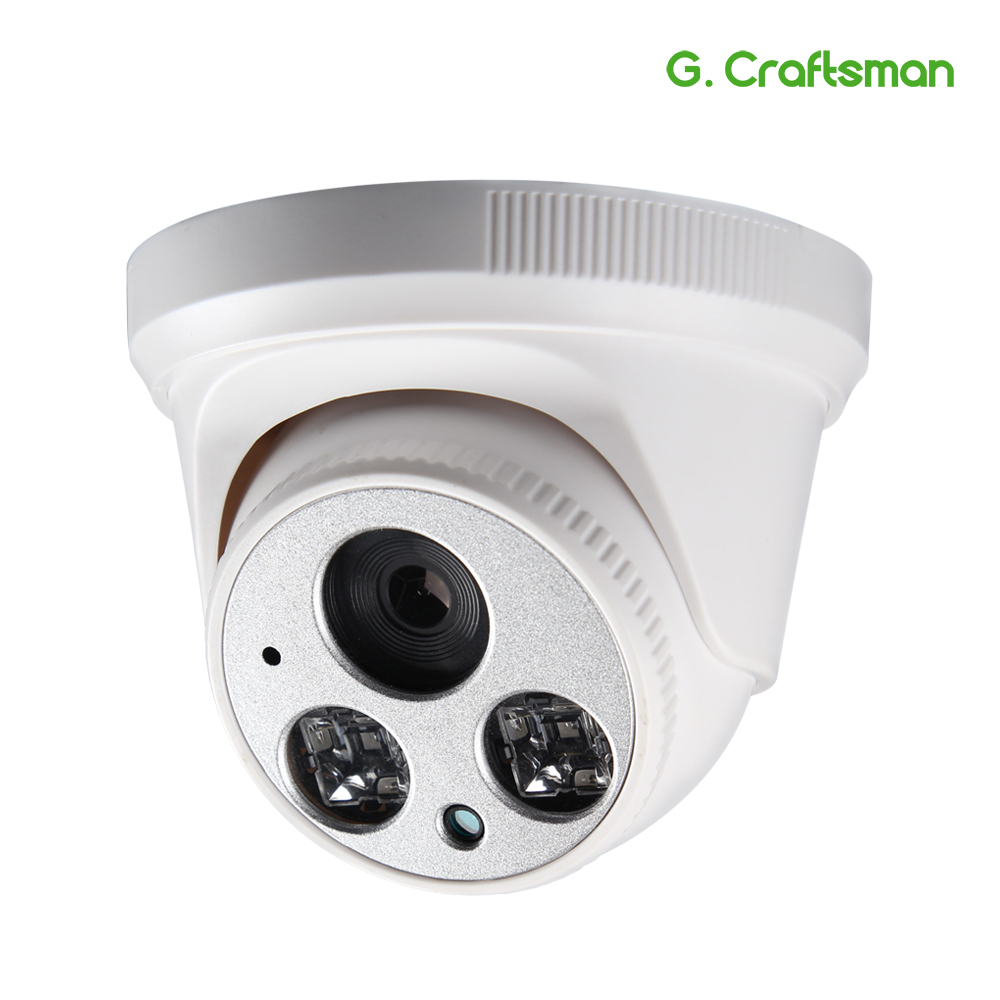 G.Craftsman Audio 5.0MP IP Camera Dome DC12V Full HD Infrared Night Vision UHD CCTV Video Surveillance Security P2P Remote V-in Surveillance Cameras from Security & Protection    1