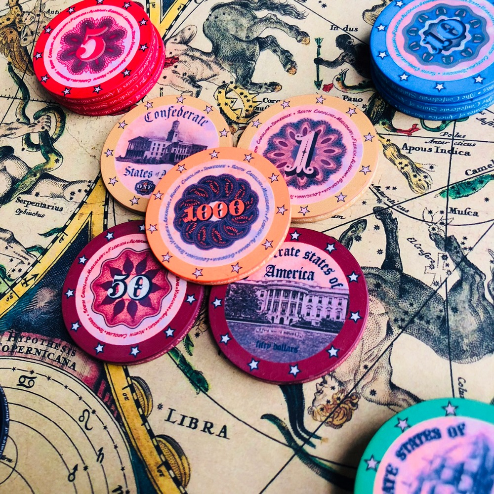 100pcs/set Ceramic Poker Chips Set with Box American History Retro Design with Gift Ceramic Poker Dealer Button