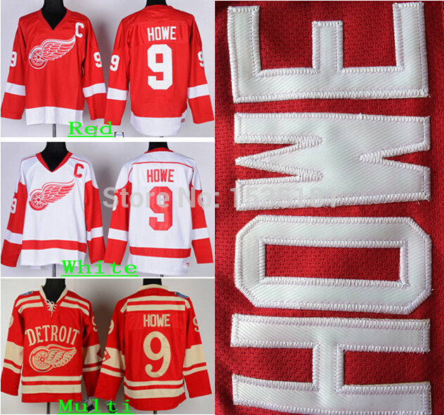 buy popular 80359 af06c Best Men's Detroit Red Wings Throwback Hockey Jerseys #9 ...