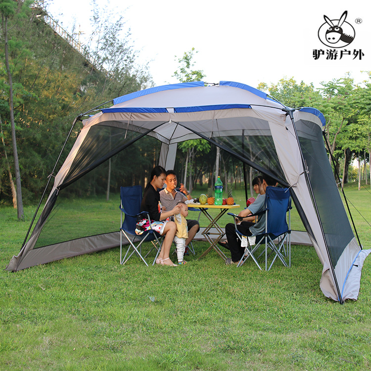 2015 Hot sale huge space 4-6-8 person beach family party park outdoor camping sunshade sunshelter awning tent,awning,pergola large outdoor camping pergola beach party sun awning tent folding waterproof 8 person gazebo canopy camping equipment