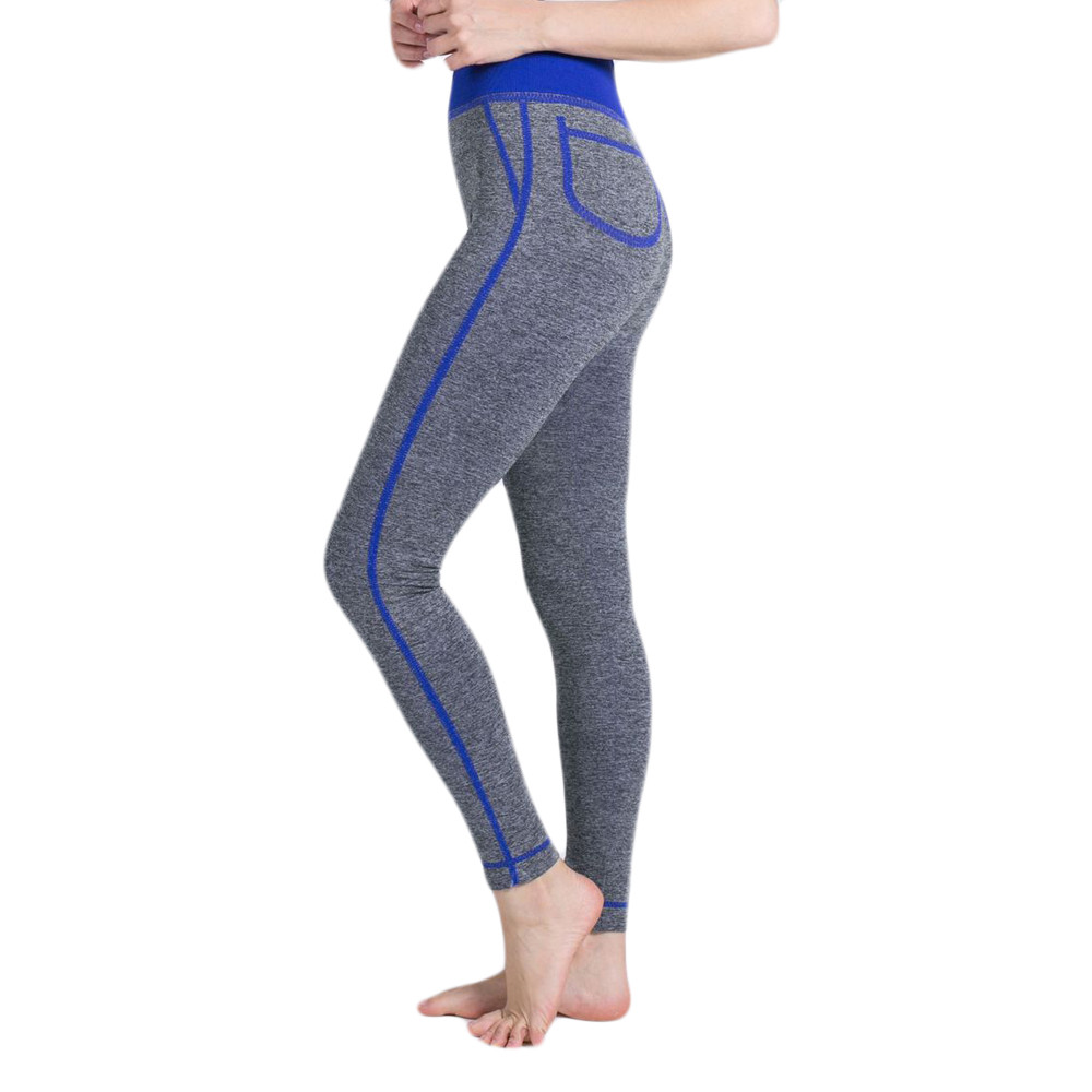 Womens Yoga Leggings Pockets Fitness Sports Gym Exercise Running Workout Pants