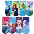 6 Par/lote Patrón de Impresión 3D de Dibujos Animados Niños Niñas Calcetines de Algodón de Los Niños bebé Niños Calcetines 20 Tipo De Estilo Adecuado Para 2-10 año