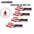 4 шт.  Gaoneng GNB  520 мАч  4S  15 2 в  80C/160C  HV  Lipo батарея с разъемом XT30 для Beta85X  Whoop  Micro FPV  гоночный Дрон  Whoop