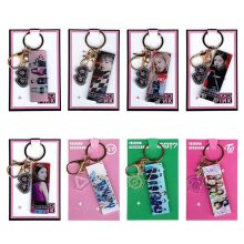Kpop Bangtan Boys BLACKPINK ROSE SEVENTEEN GOT7 TWICE Acrylic Keychain JIMIN JUNGKOOK V Key Ting Bag Pendant Key Ring(China)