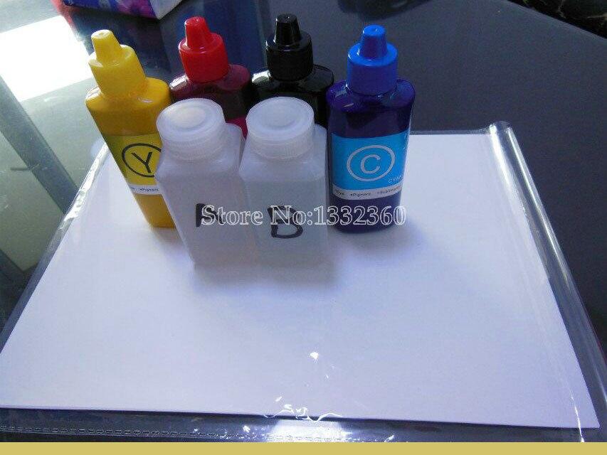 2 Бутылка гидрографическое Активатор & B + 10 ШТ. Передачи Печати Пленки активатор + 4 Х Пигментные чернила подходит для Epson струйный принтер