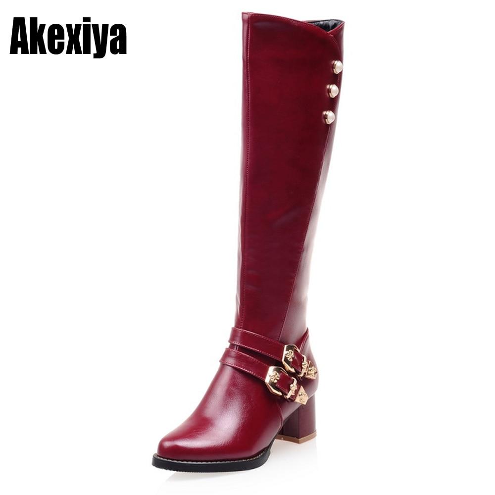 Tamanho 34-43 nova chegada rebites joelho alta outono botas de inverno das mulheres da moda botas de neve mulheres sapatos mulher melhor