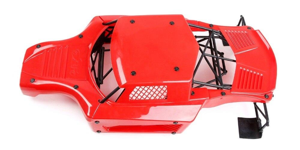 Carro rc anti acidente de corpo de náilon escudo rolo gaiola kit anti wear capa do corpo do carro para losi 5ive t lt km x2 - 3