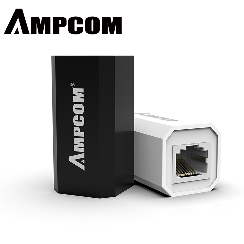 AMPCOM RJ45 Connector 8P8C Female Extender LAN Connector Adapter Inline Cat7/Cat6/Cat5e Ethernet Cable