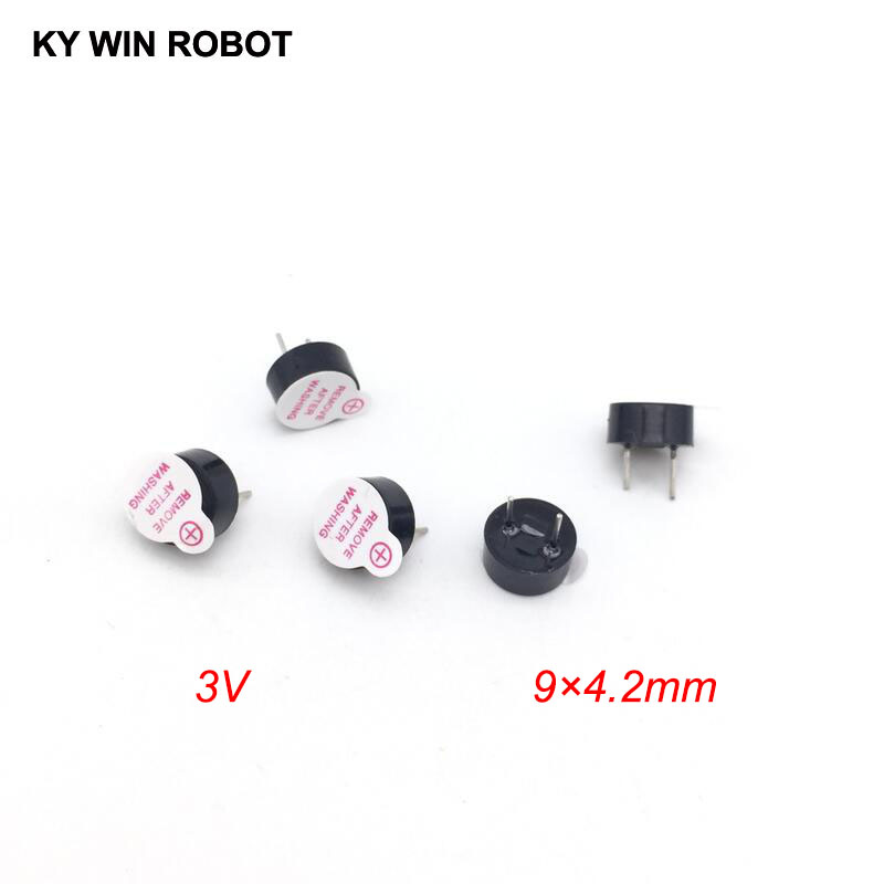 [ Electronic Diy Kit ] New Ultra-thin 3V Active Buzzer Electromagnetic 9*4.2MM 0942 (SOT Plastic Tube Length Acoustic )(5 Pieces