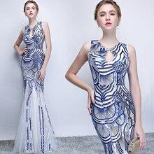 New sexy nàng tiên cá màu xanh mùa hè sequines ren lady cô gái phụ nữ công chúa phù dâu tiệc bên bên ăn mặc gown