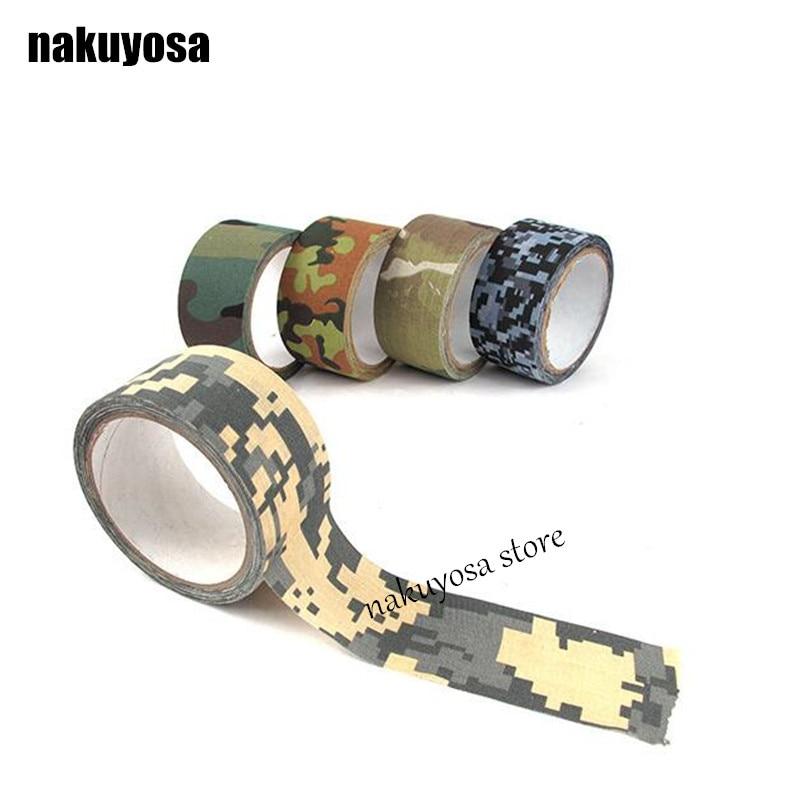 5Pcs Military Hunting Rifle Gun Flashlight Scopes Bike Stealth Wrap Tape Black