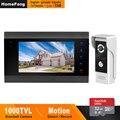 HomeFong Porta Interfone telefone Video Da Porta Com Fio para Home Video Intercom Suporte Detecção De Movimento de Câmera Da Porta Registro 7 polegada Intercomunicadores