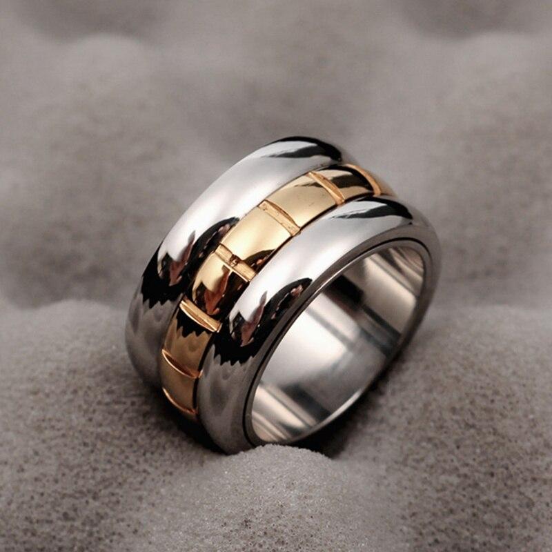 MANGOSKY Одежда высшего качества известный Фирменная Новинка кольца для Для мужчин Для женщин 14KGP 316L Нержавеющаясталь любовные кольца 12 мм Шир...