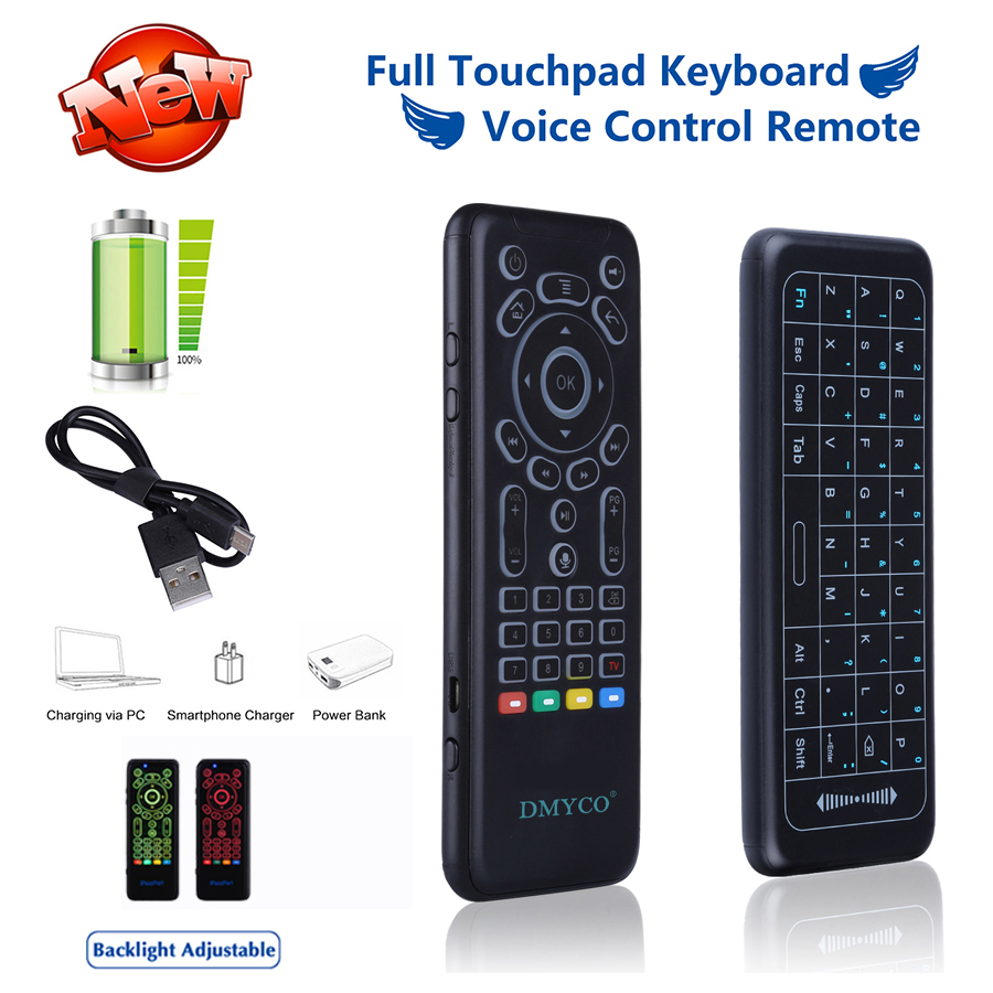 buy 2 4ghz wireless backlight usb keyboard voice control remote russian. Black Bedroom Furniture Sets. Home Design Ideas