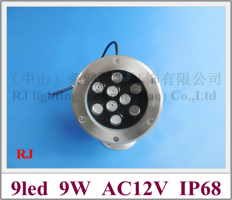 new style 9W LED underwater light lamp LED swimming pool light fountain light AC12V 9W IP68 2 year warranty free shipping