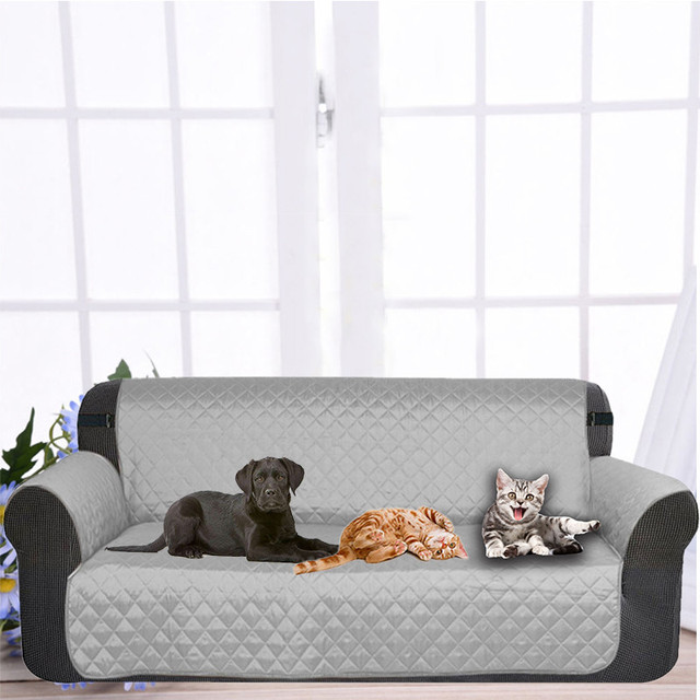Dog Double Seat Sofa Cover Protector For Kids Pets Cat Reversible Furniture Loveseat Nonslip