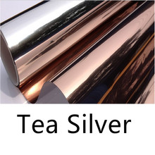 Decorative film sunscreen insulation one-way perspective office tea silver window home balcony kitchen sticker
