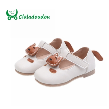 Claladoudou 12-14CM 2019 Spring Infant Shoes Girls Cute Cartoon Toddler Moccasins Princess Strap Newborn Shoes Girl For 0-1Years