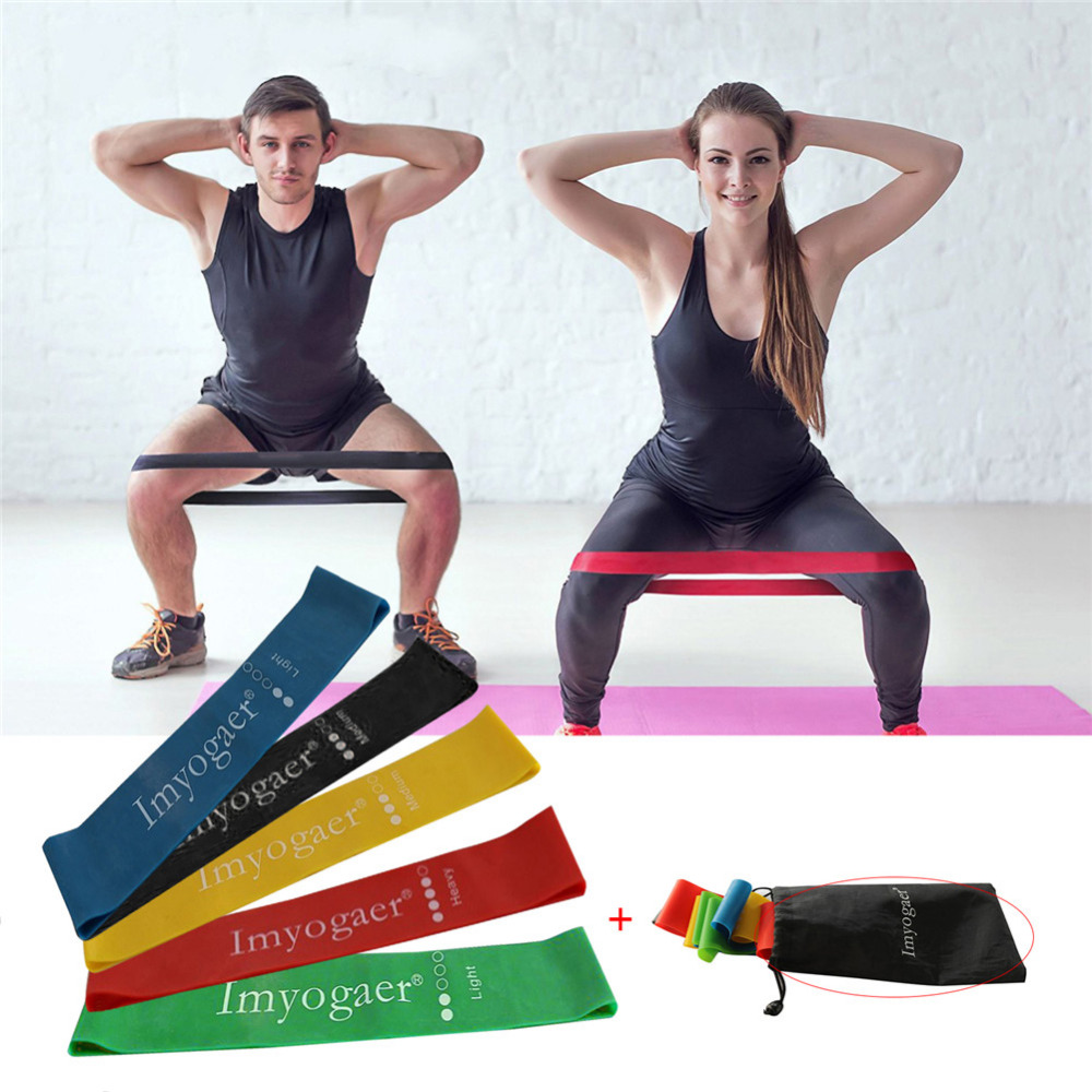 5* Elastic Resistance Band Loop Home Gym Fitness Yoga Exercise Training Crossfit