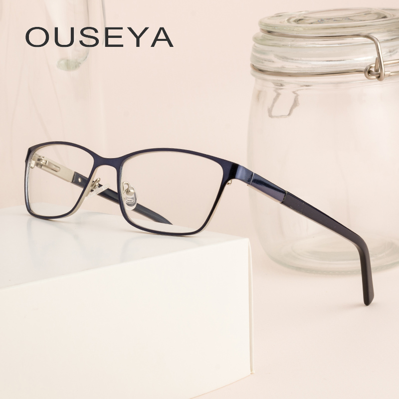 86aace1dc29 Metal Women Eyeglasses Business Retro Clear Lens Vintage Transparent Grade  No Degree Lady Glasses Frames For Female  ML0050