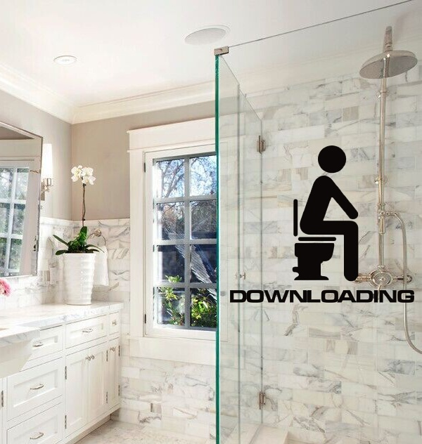 Free shipping funny downloadingbathroom entrance sign for Hotel door decor