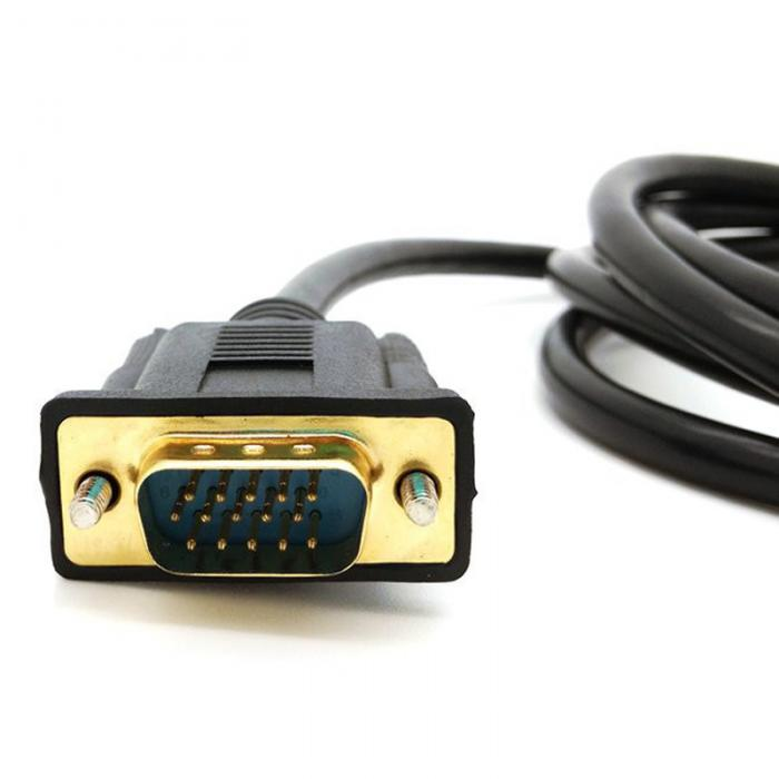 connector b:vga connector a:hdmi type:coaxial model number:na cable  length:180 cm  color:black connectors:hdmi to vga